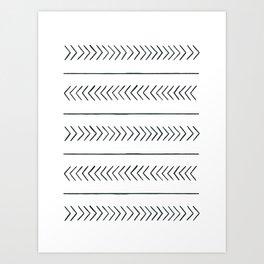 Arrows & Lines Art Print