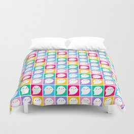 Colourful Little Ghosts Duvet Cover