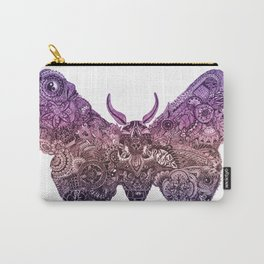 'Moth' Pink Colour Carry-All Pouch