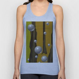 one red ball in the forest. Unisex Tank Top