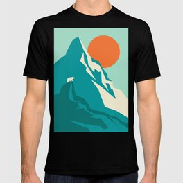 As the sun rises over the peak T-shirt