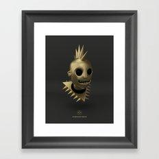 Defi Gold Punk Framed Art Print