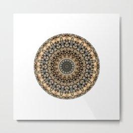 Pebbles Mandala Metal Print