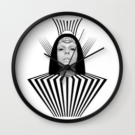 Dark Homonyms II Wall Clock