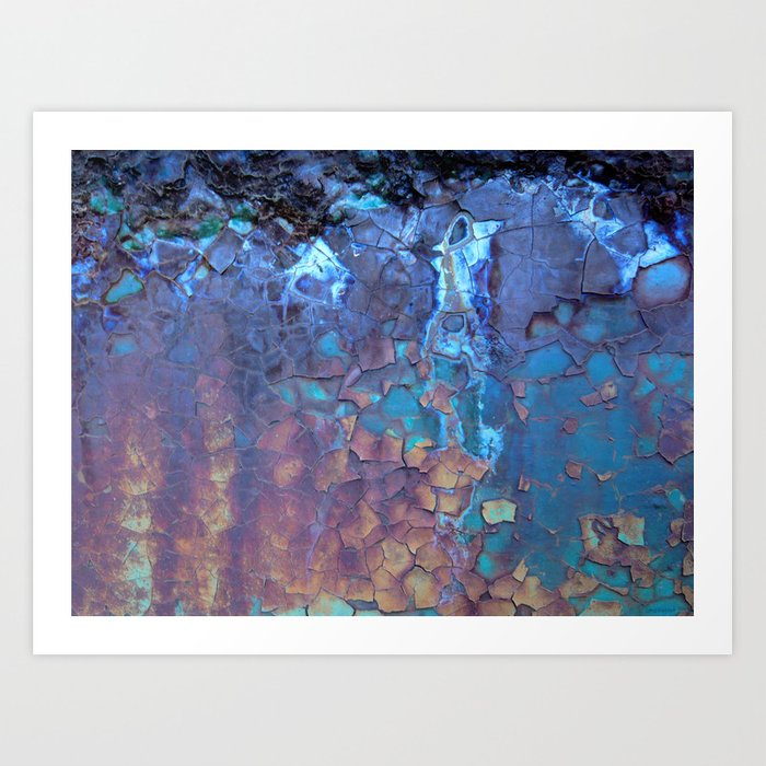 Waterfall. Rustic & crumby paint. Art Print