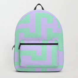 Magic Mint Green and Pale Lavender Violet Labyrinth Backpack