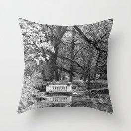 Romantic spot at the lake Throw Pillow