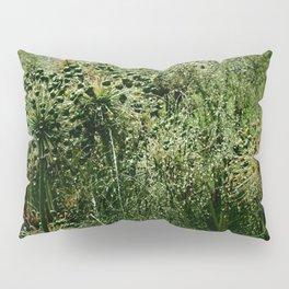 Rainy Green Garden Pillow Sham