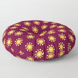 Snazzy Seminoles - Garnet & Gold FSU Print Floor Pillow