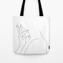 Figure line drawing illustration - Josie Tote Bag