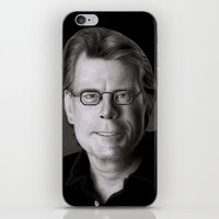 stephen king iPhone & iPod Skins featuring Stephen King by Giampaolo Casarini