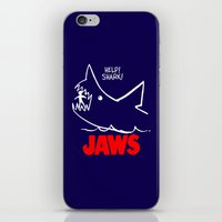 jaws iPhone & iPod Skins featuring Jaws by IIIIHiveIIII