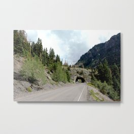Driving the Spectacular, but Perilous Uncompahgre Gorge, No. 5 of 5 Metal Print