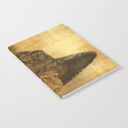Golden victorian lady Notebook