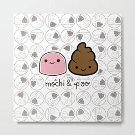 Mochi & Poo - Pattern2 Metal Print