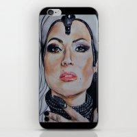 regina mills iPhone & iPod Skins featuring Regina Mills/Evil Queen by Bernadette Woods