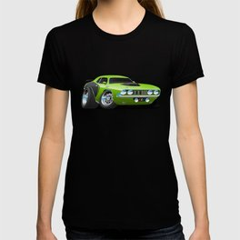 Classic Seventies Style American Muscle Car Cartoon T-shirt