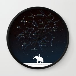 Falling star constellation Wall Clock