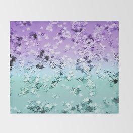 Mermaid Lady Glitter Stars #4 #shiny #decor #art #society6 Throw Blanket