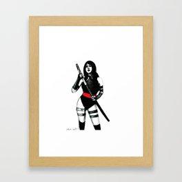 Red belt  Framed Art Print