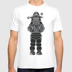 ROBBY THE ROBOT White LARGE Mens Fitted Tee