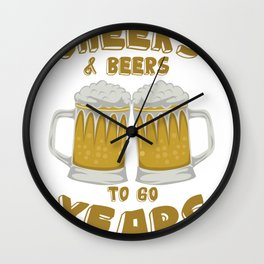 Cheers and Beers on 60 Years Birthday Gift Wall Clock