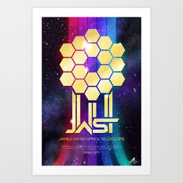 James Webb Space Telescope Movie Poster Art Print