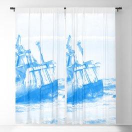 shipwreck aqrewb Blackout Curtain