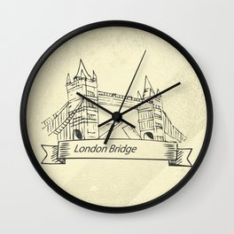 London Bridge in Skecth Wall Clock