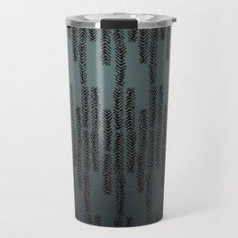 Eye of the Magpie tribal style pattern - dark teal Travel Mug