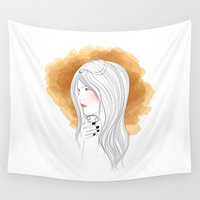 cancer Wall Tapestries featuring Cancer by Victoria Rosas