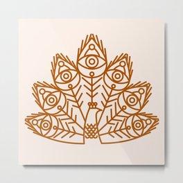 Cosmic Peacock Metal Print