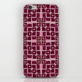 Pink Geometric Futuristic Quilt iPhone Skin