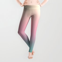 Ombre gradient illustration pink yellow blue colors Leggings