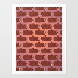 Logs, Logs, Logs! Art Print
