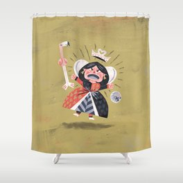 Queen of Hearts - Alice in Wonderland Shower Curtain