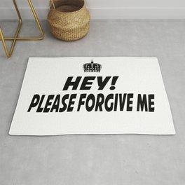 Please Forgive Me Rug
