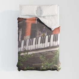 New Orleans French Quarter Piano Nola Home in Louisiana Comforters