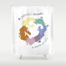 Painter's Brush Shower Curtain