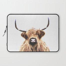 Highland Cow Portrait Laptop Sleeve
