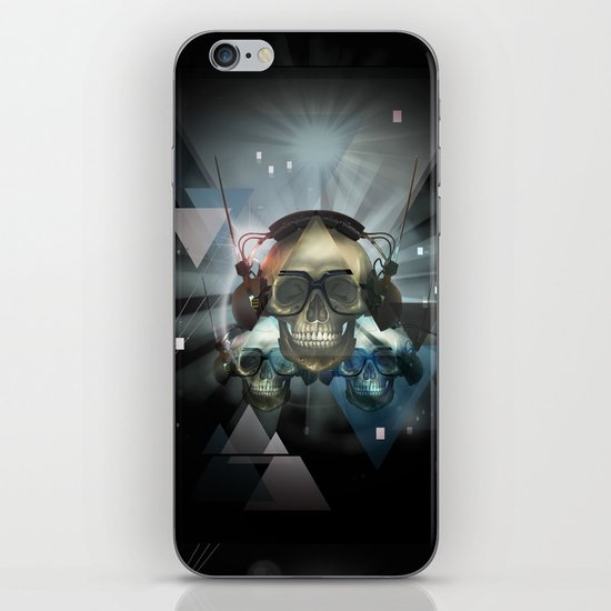 Pyramid skulls iPhone & iPod Skin