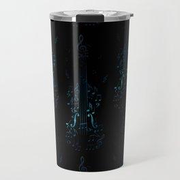 Creative violin silhouette Travel Mug