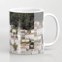 buildings Mugs featuring BUILDINGS by Greenteaelf