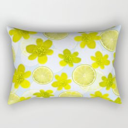 Lime and flowers Rectangular Pillow