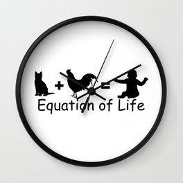 Equation of Life Wall Clock