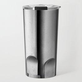 Organ pipes black and white photography Travel Mug