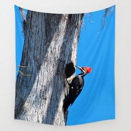 Bayou Bird: Pileated Woodpecker Wall Tapestry