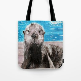 My Otter painting by Karen Chapman Tote Bag