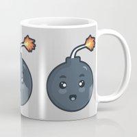kawaii Mugs featuring Kawaii Bomb by Nir P