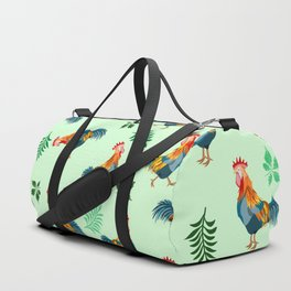 Rooster Pattern Duffle Bag
